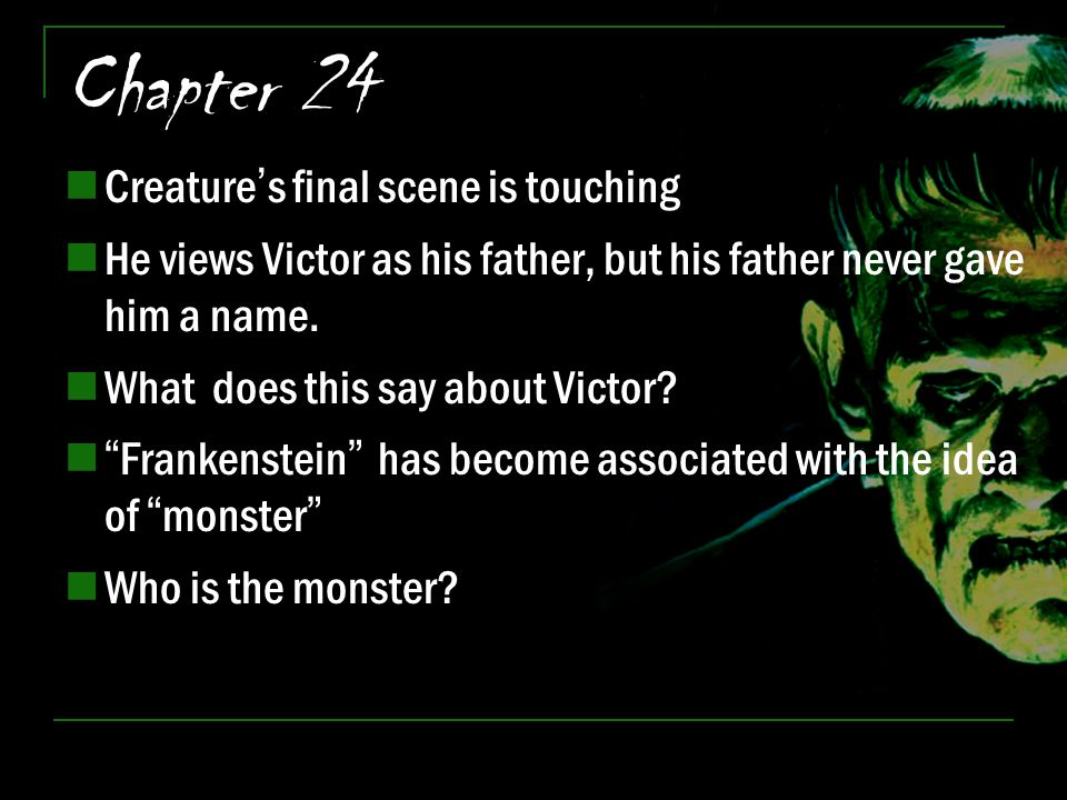 Chapter 24 Creature's final scene is touching