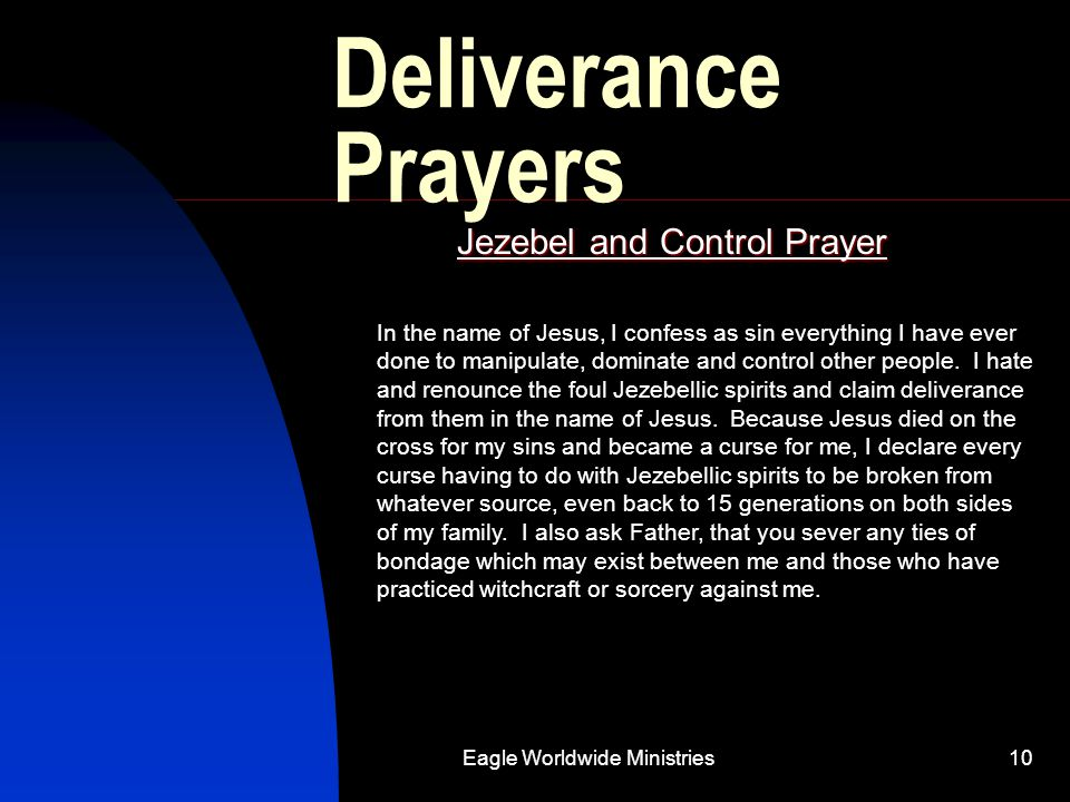 Jezebel and Control Prayer