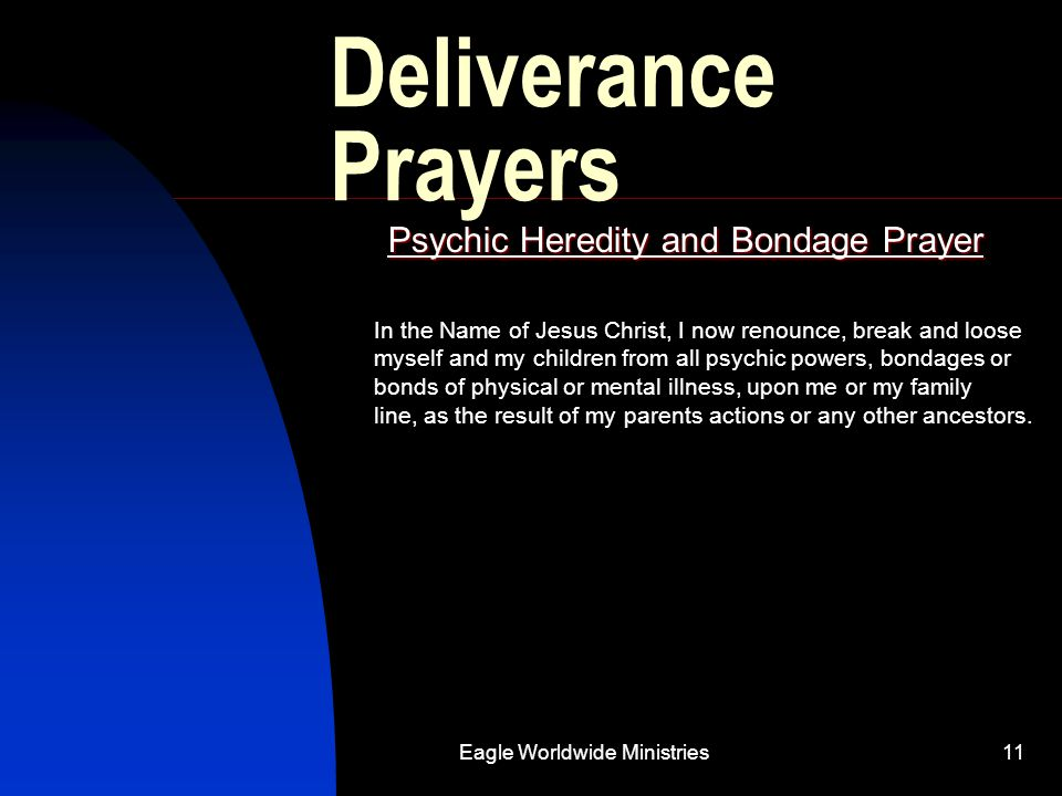 Psychic Heredity and Bondage Prayer