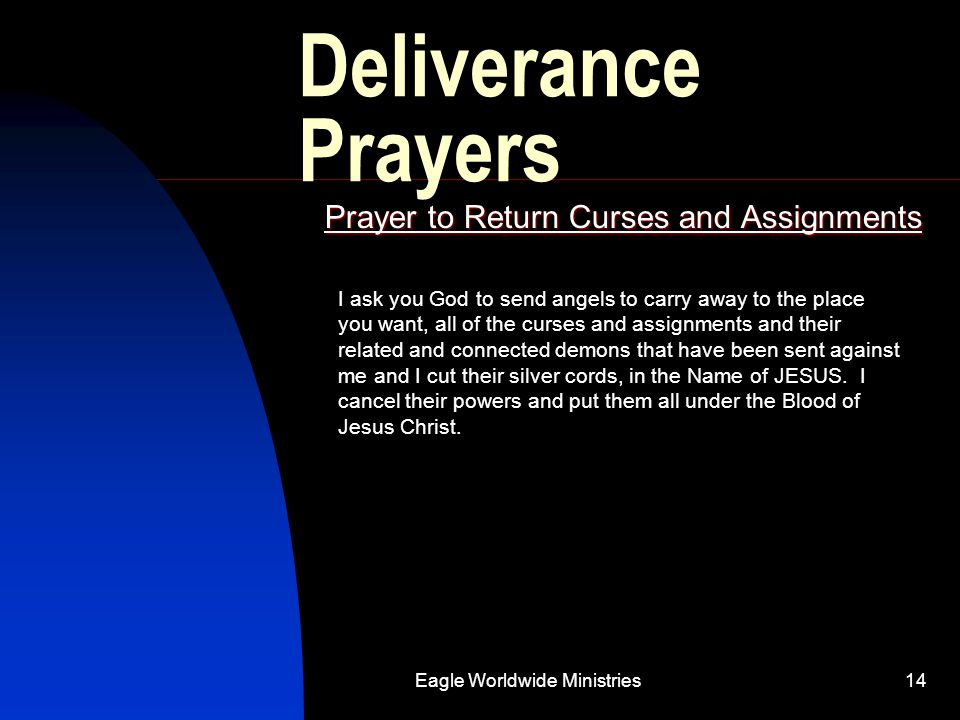 Prayer to Return Curses and Assignments