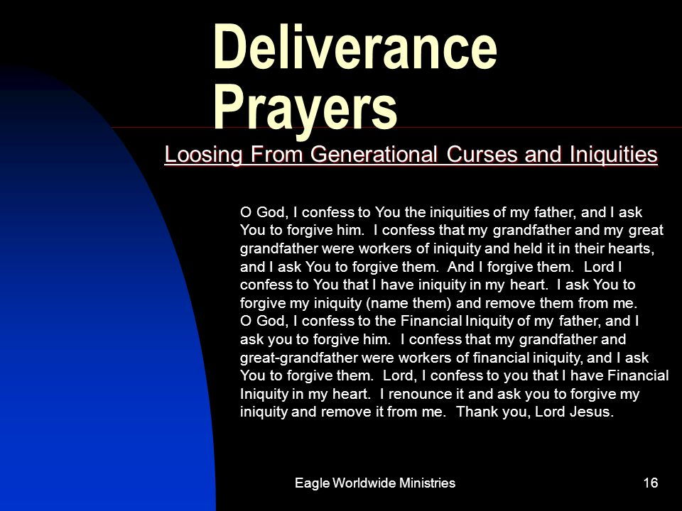 Loosing From Generational Curses and Iniquities