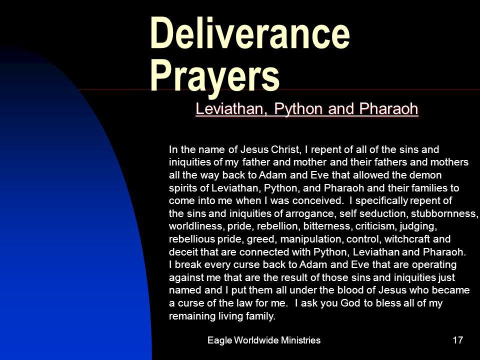 Leviathan, Python and Pharaoh