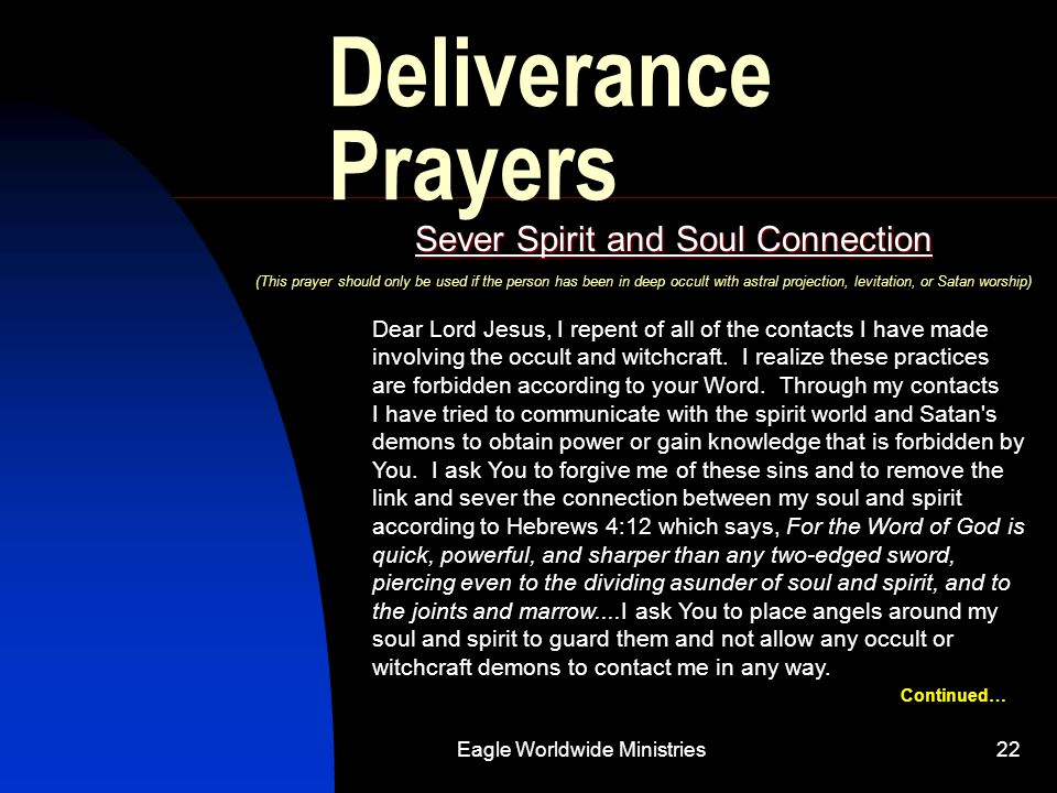 Sever Spirit and Soul Connection