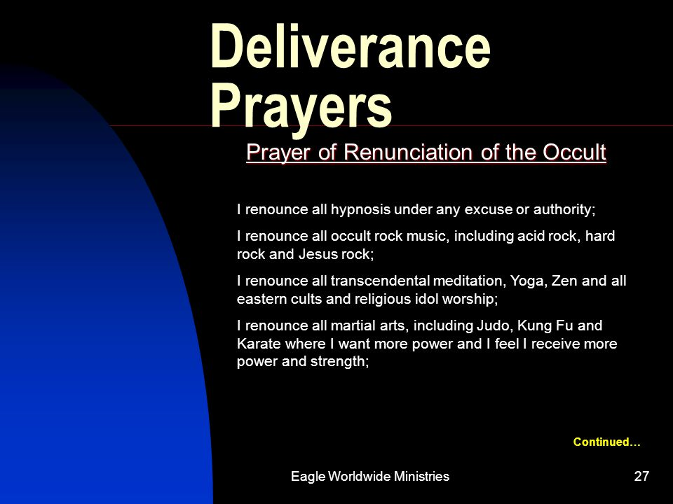 Prayer of Renunciation of the Occult