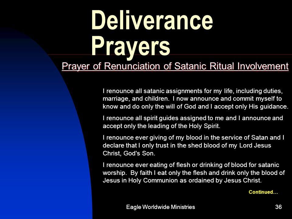 Prayer of Renunciation of Satanic Ritual Involvement