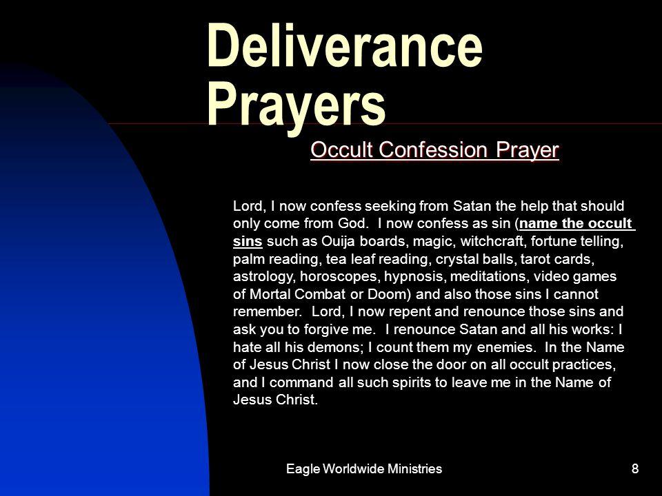 Occult Confession Prayer
