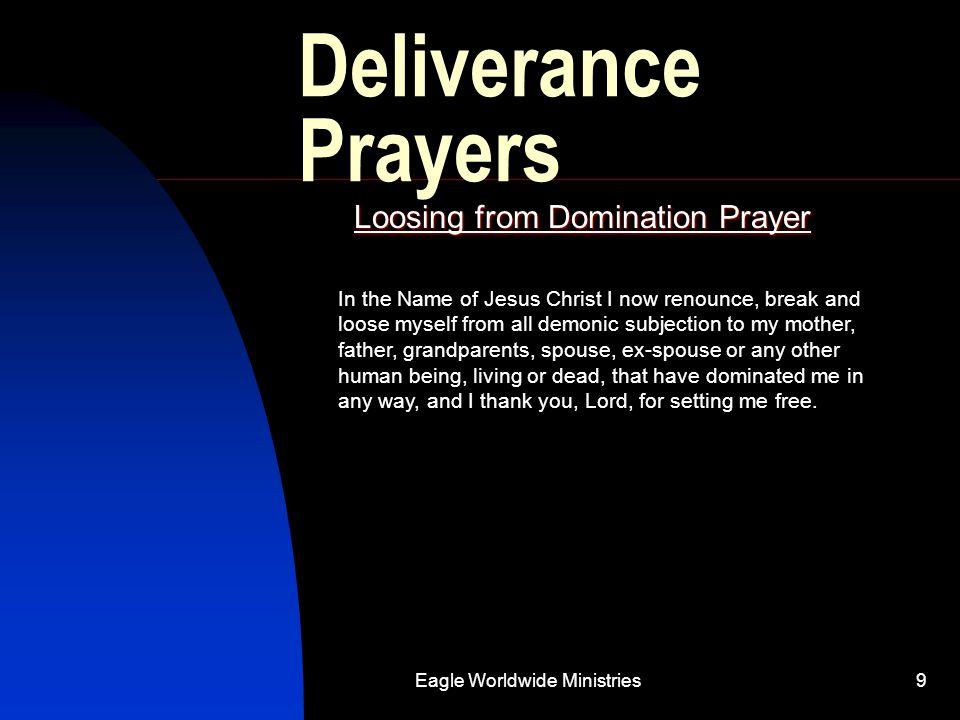 Loosing from Domination Prayer
