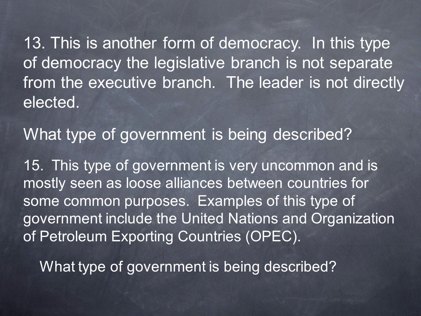 What type of government is being described