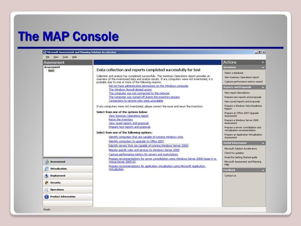 The MAP Console