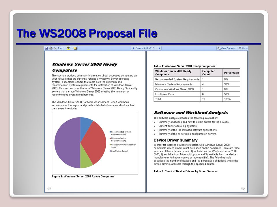 The WS2008 Proposal File