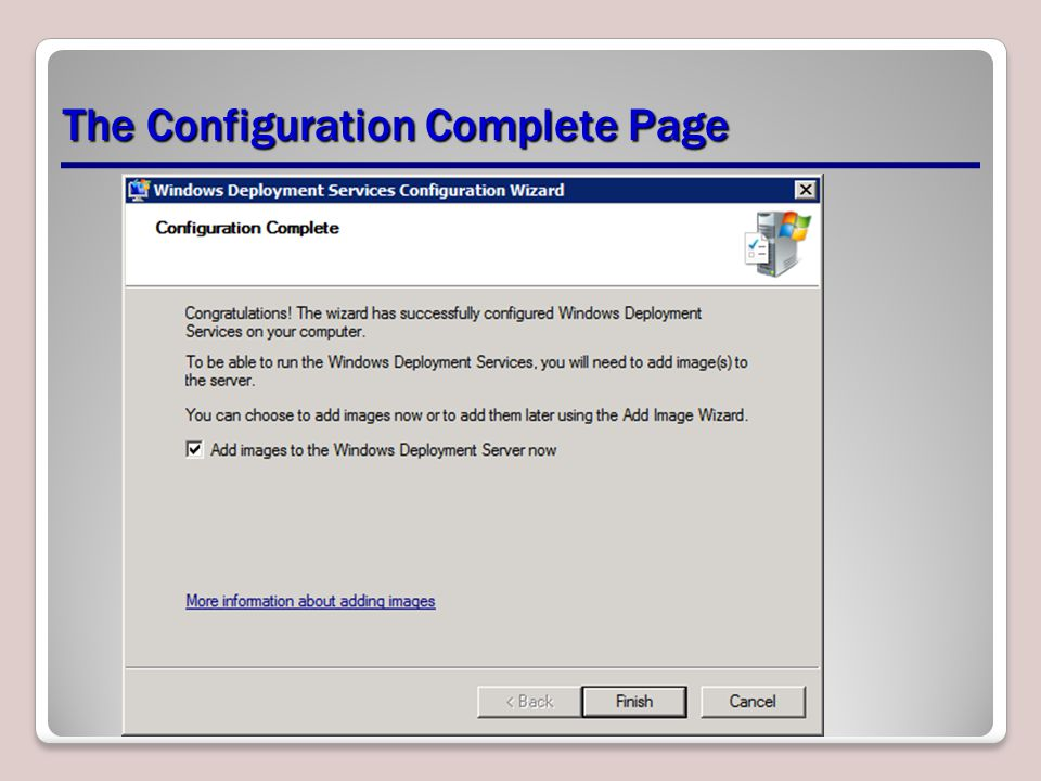 The Configuration Complete Page