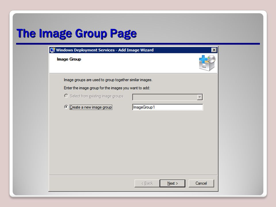 The Image Group Page
