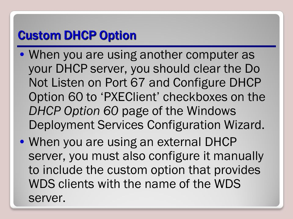 Custom DHCP Option