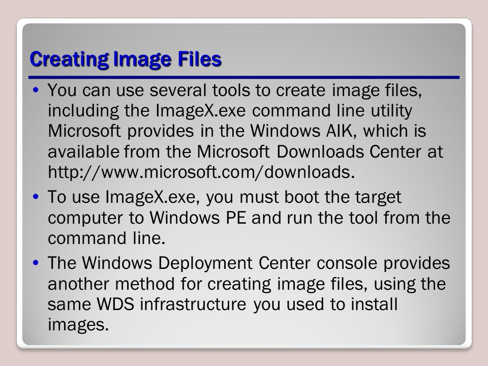 Creating Image Files