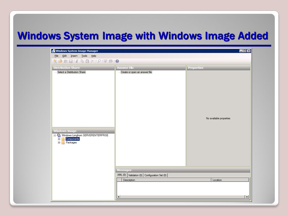 Windows System Image with Windows Image Added