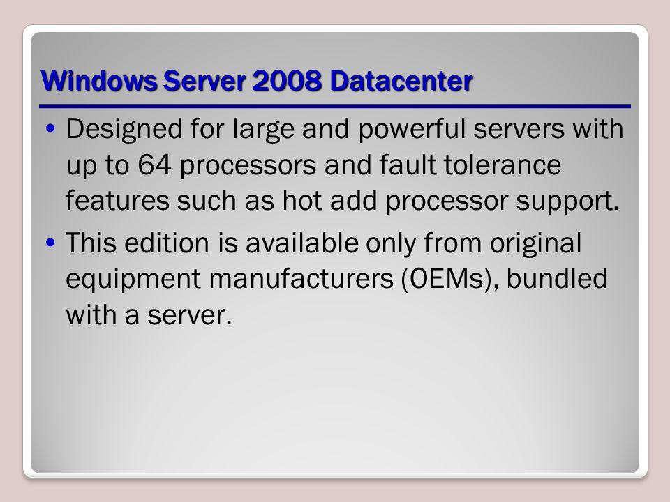 Windows Server 2008 Datacenter