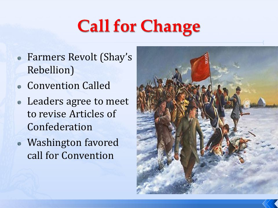 Call for Change Farmers Revolt (Shay's Rebellion) Convention Called