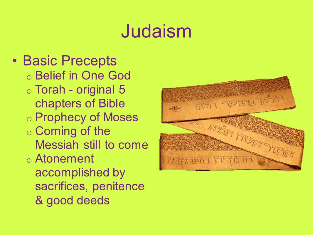 Judaism Basic Precepts Belief in One God