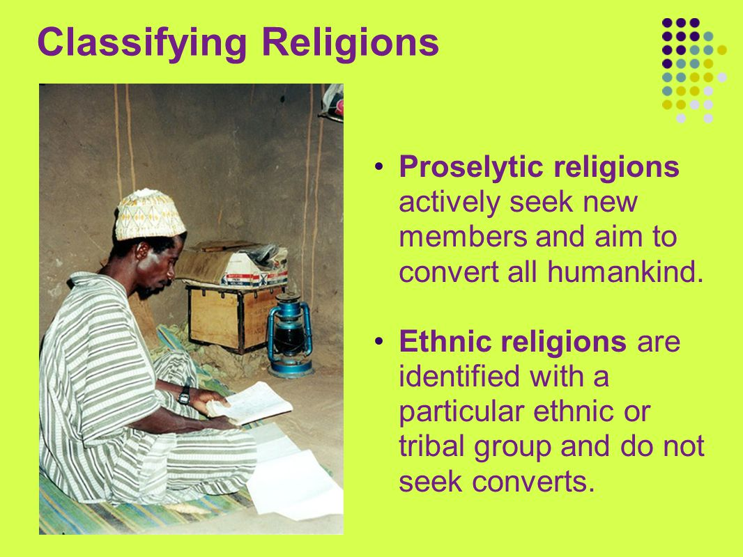 Classifying Religions