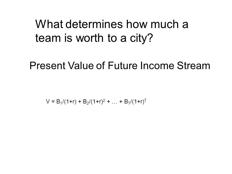 What determines how much a team is worth to a city