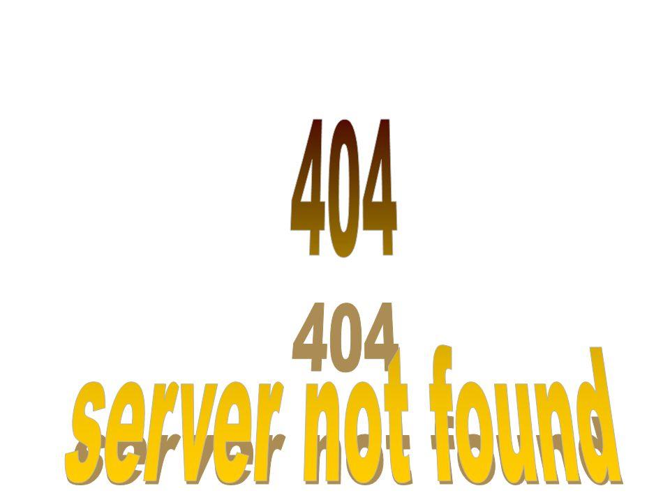 404 server not found