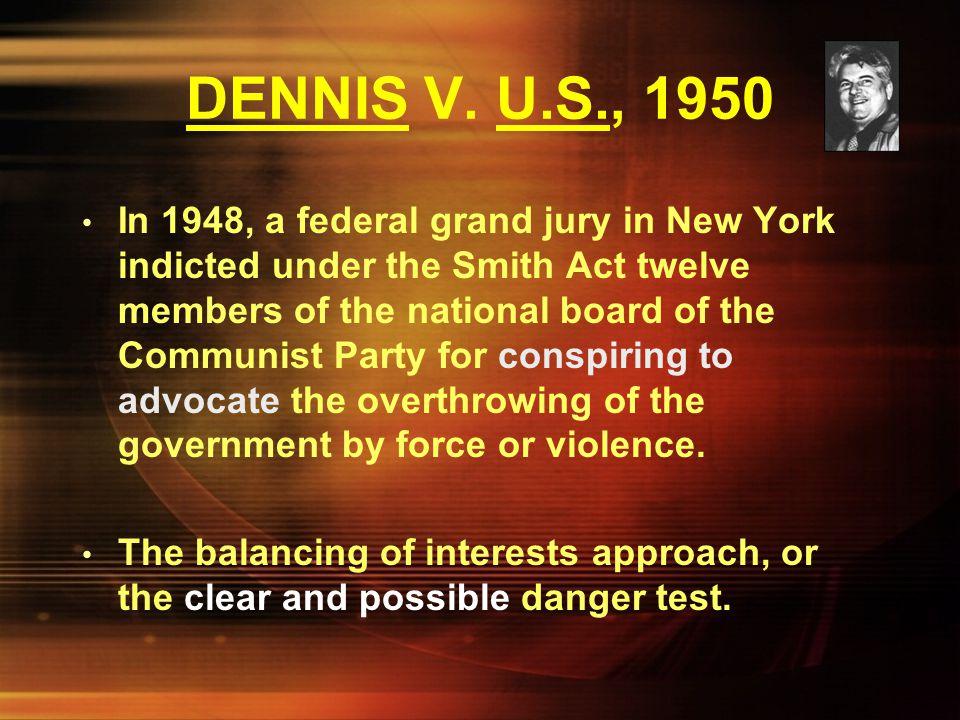 DENNIS V. U.S., 1950