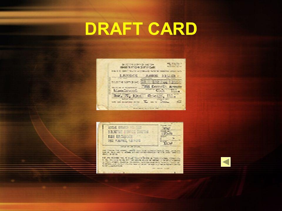 DRAFT CARD
