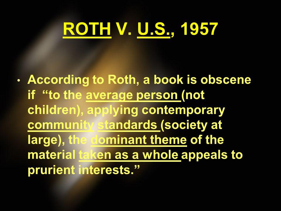 ROTH V. U.S., 1957