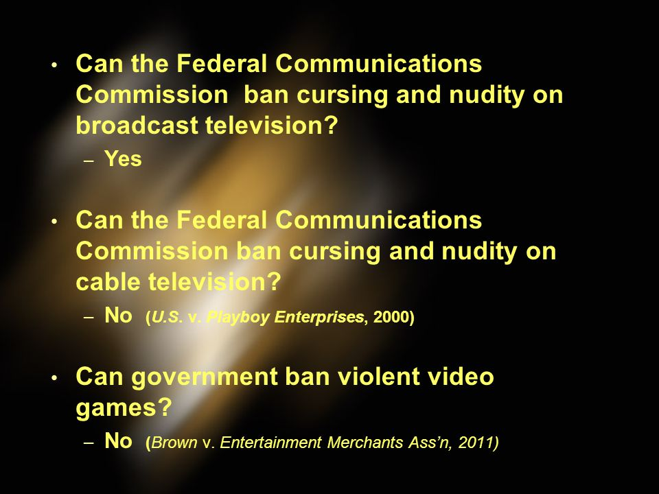 Can government ban violent video games