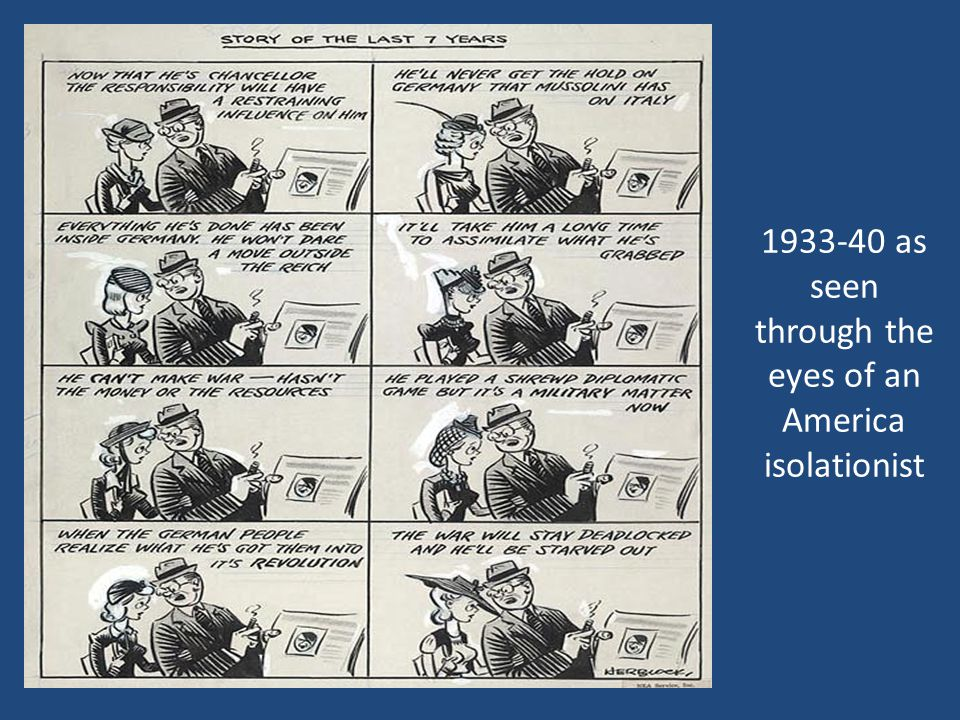 1933-40 as seen through the eyes of an America isolationist
