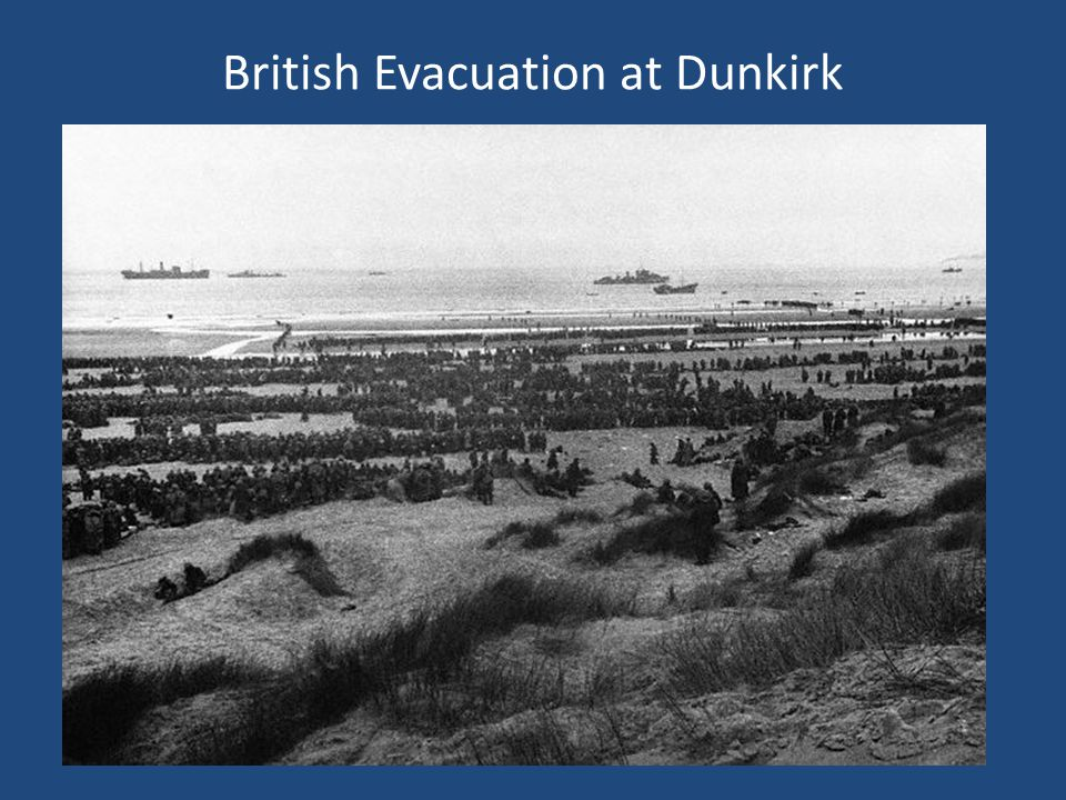 British Evacuation at Dunkirk
