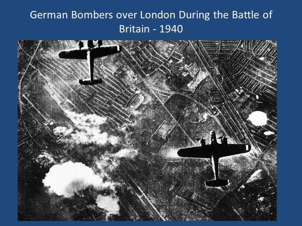 German Bombers over London During the Battle of Britain - 1940