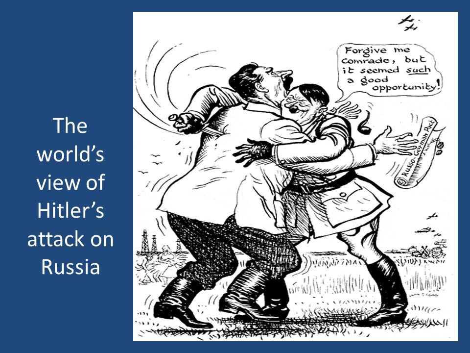The world's view of Hitler's attack on Russia