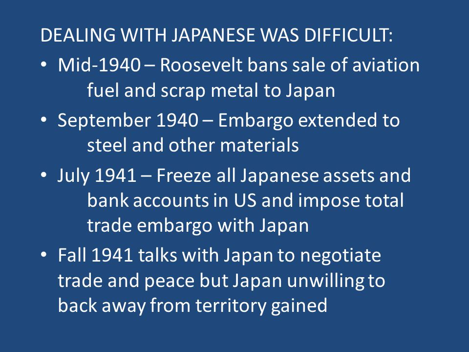 DEALING WITH JAPANESE WAS DIFFICULT: