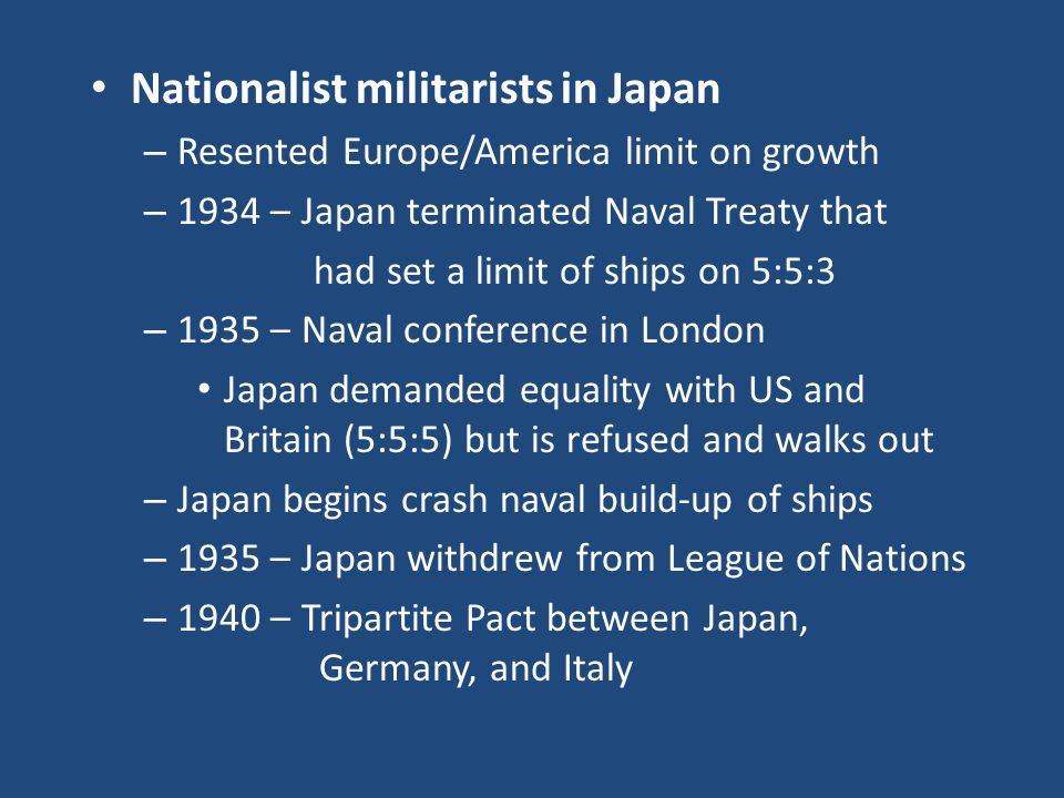 Nationalist militarists in Japan