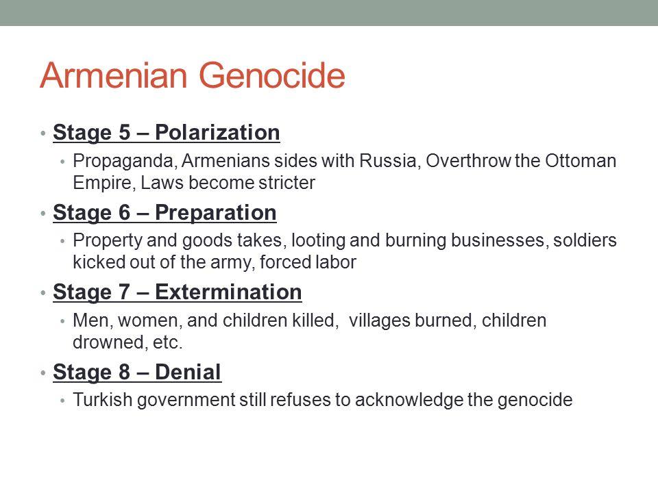 Armenian Genocide Stage 5 – Polarization Stage 6 – Preparation