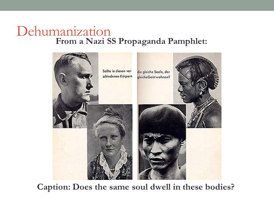 Dehumanization From a Nazi SS Propaganda Pamphlet: