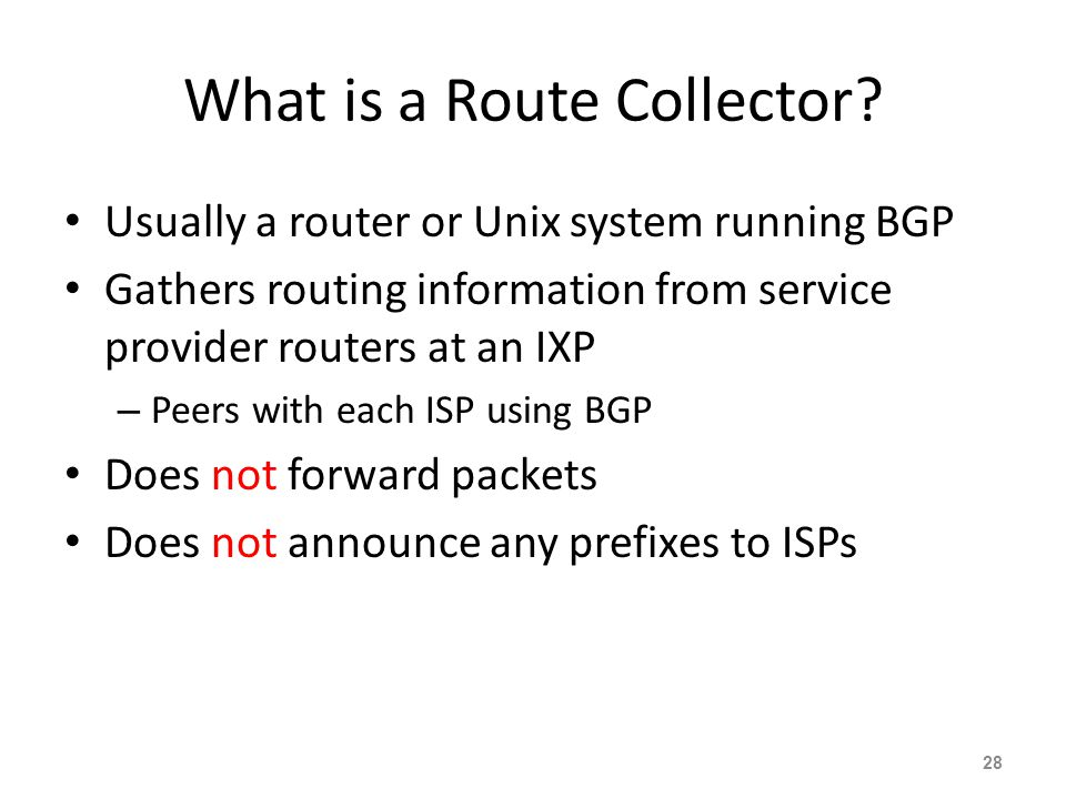 What is a Route Collector