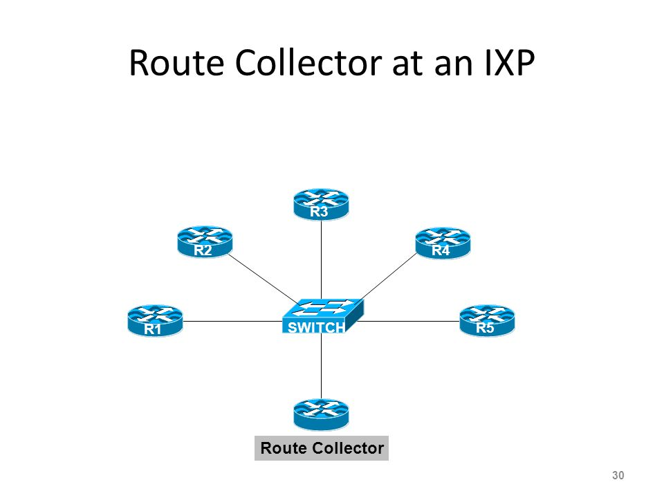 Route Collector at an IXP