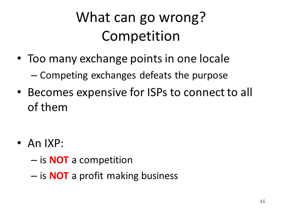 What can go wrong Competition