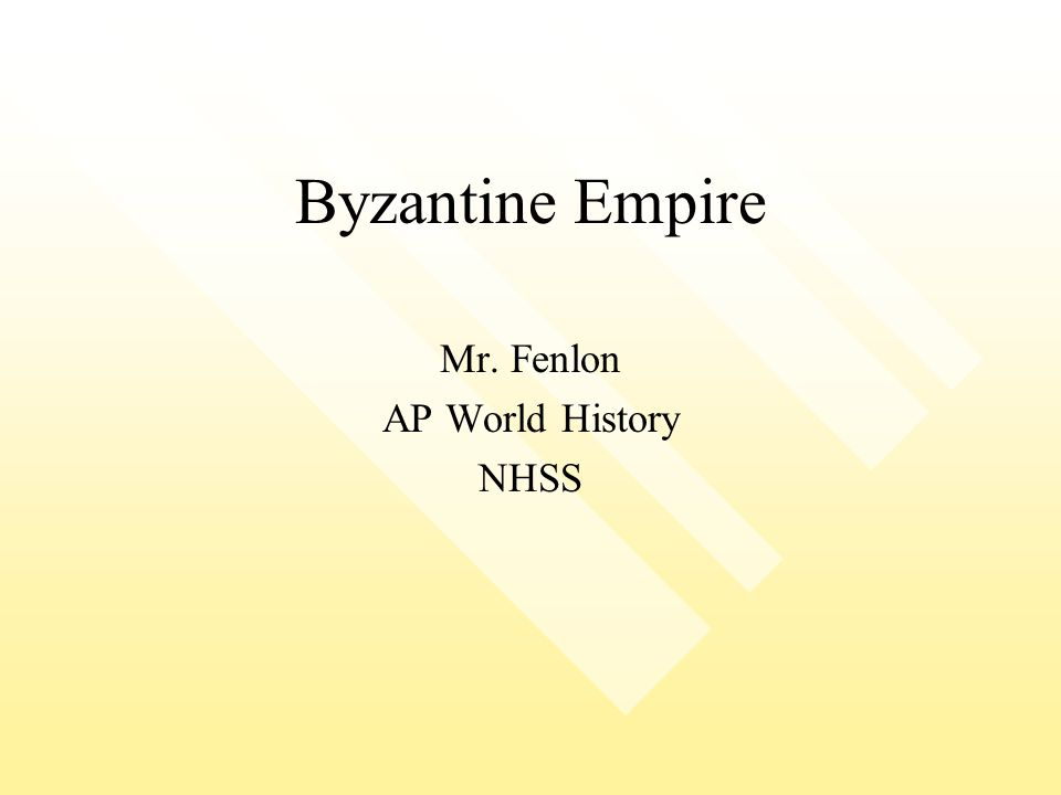Mr. Fenlon AP World History NHSS