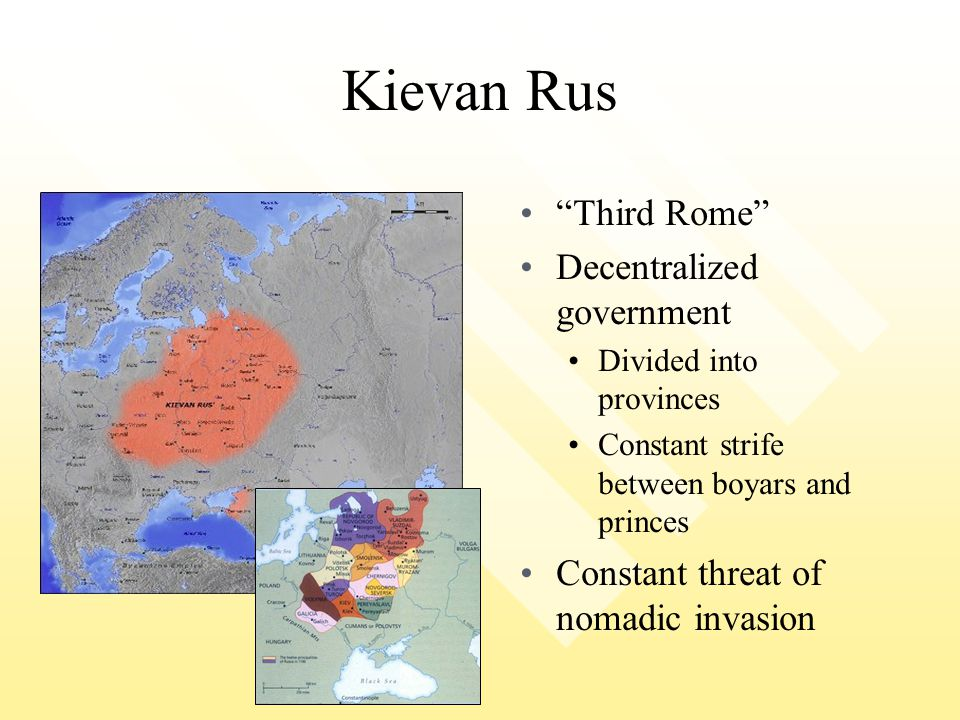 Kievan Rus Third Rome Decentralized government