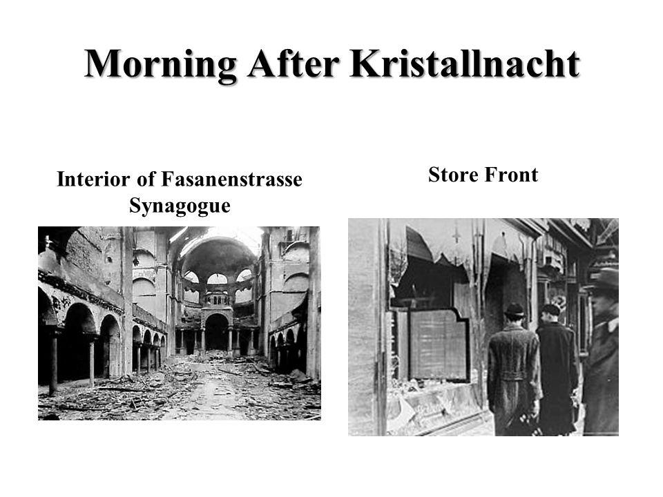 Morning After Kristallnacht