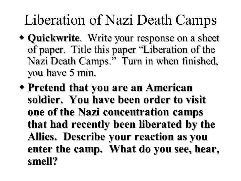 Liberation of Nazi Death Camps