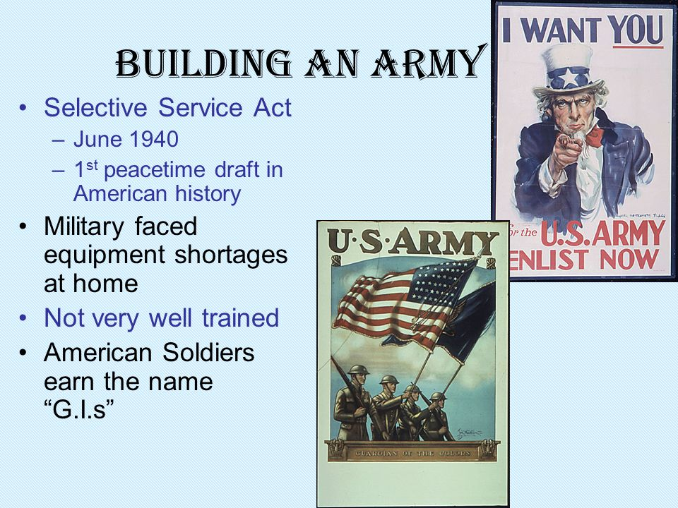 Building an Army Selective Service Act
