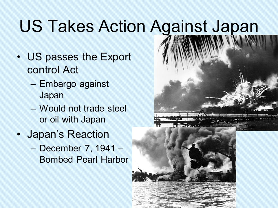 US Takes Action Against Japan