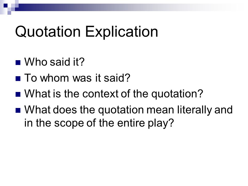 Quotation Explication