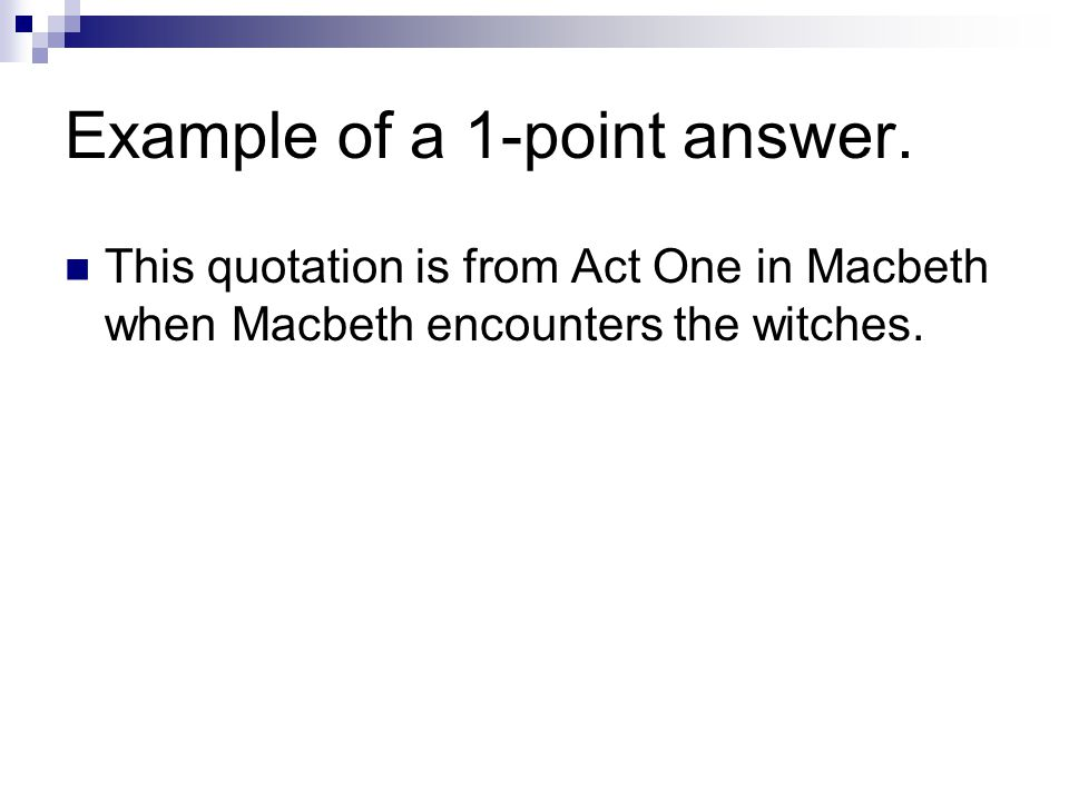 Example of a 1-point answer.