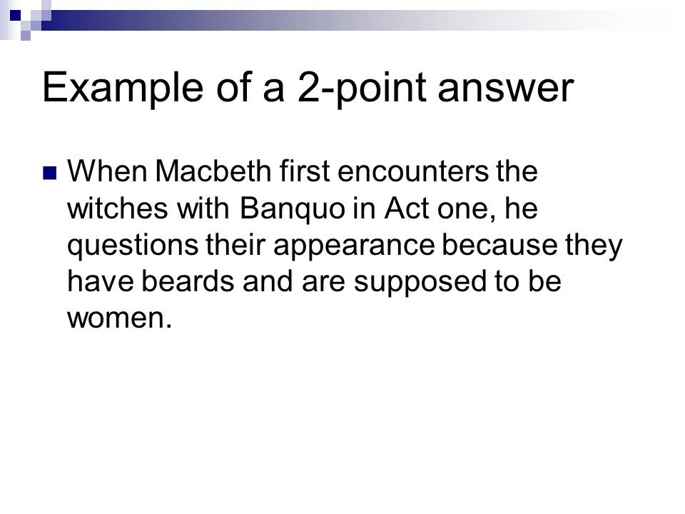 Example of a 2-point answer