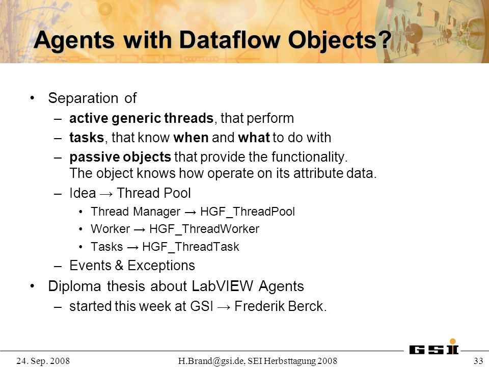 Agents with Dataflow Objects